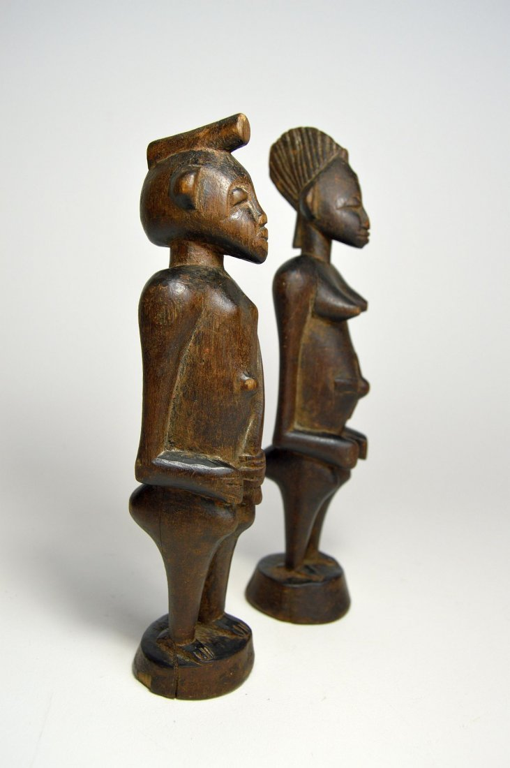 A Very Fine Old Pair Of Senufo figures, African Art - 5