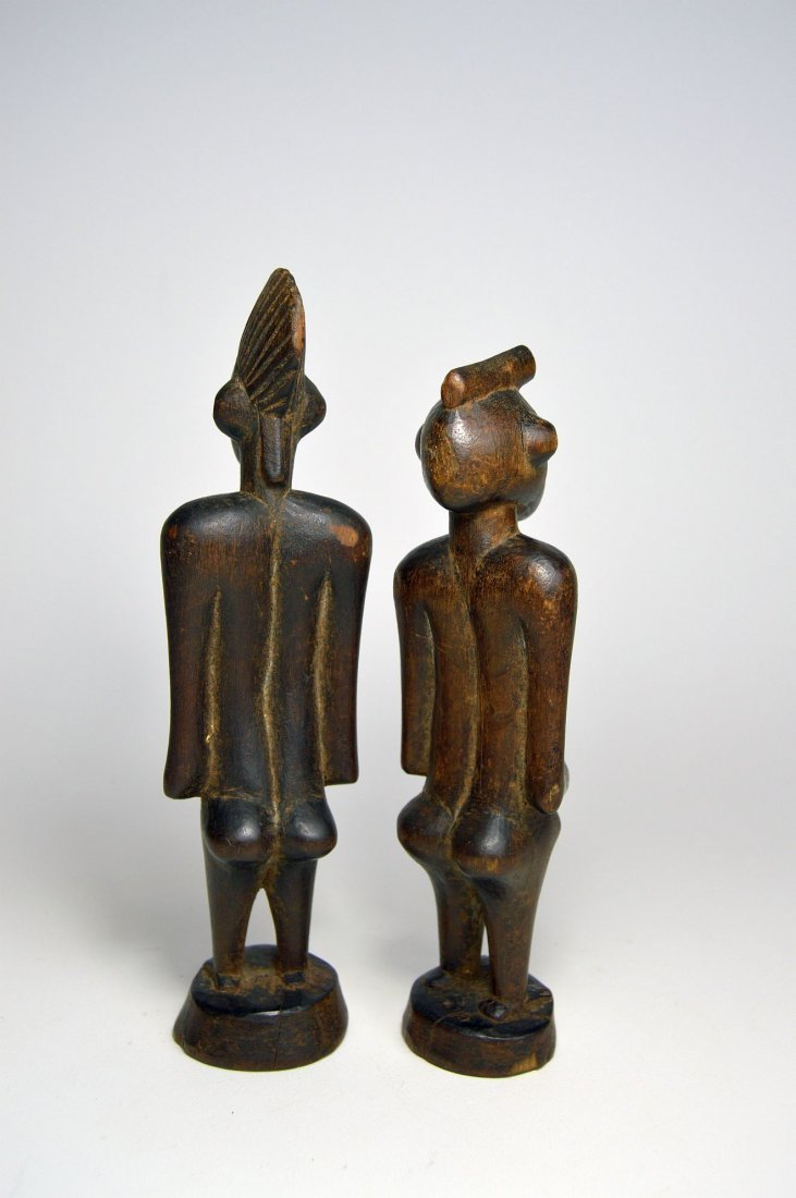 A Very Fine Old Pair Of Senufo figures, African Art - 6