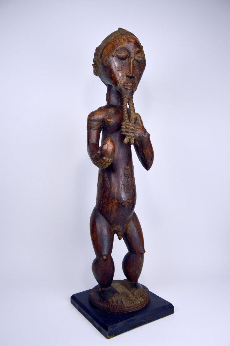 Large Baule Male sculpture, African Tribal Art - 2