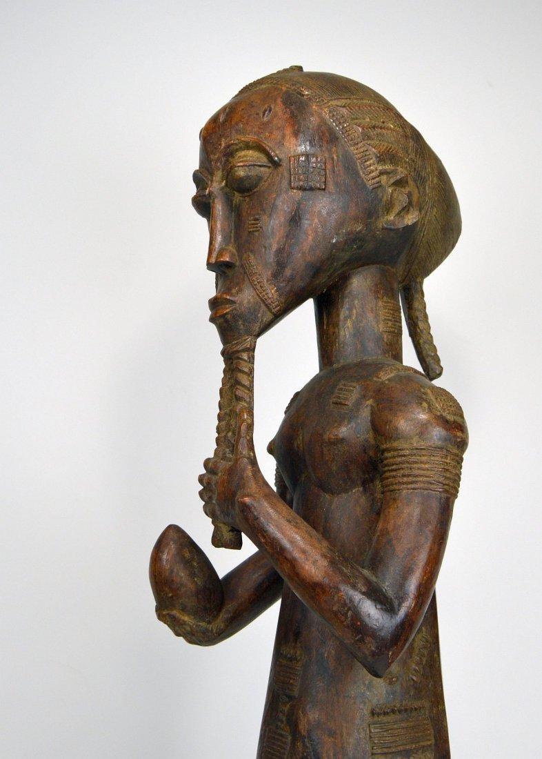 Large Baule Male sculpture, African Tribal Art - 4