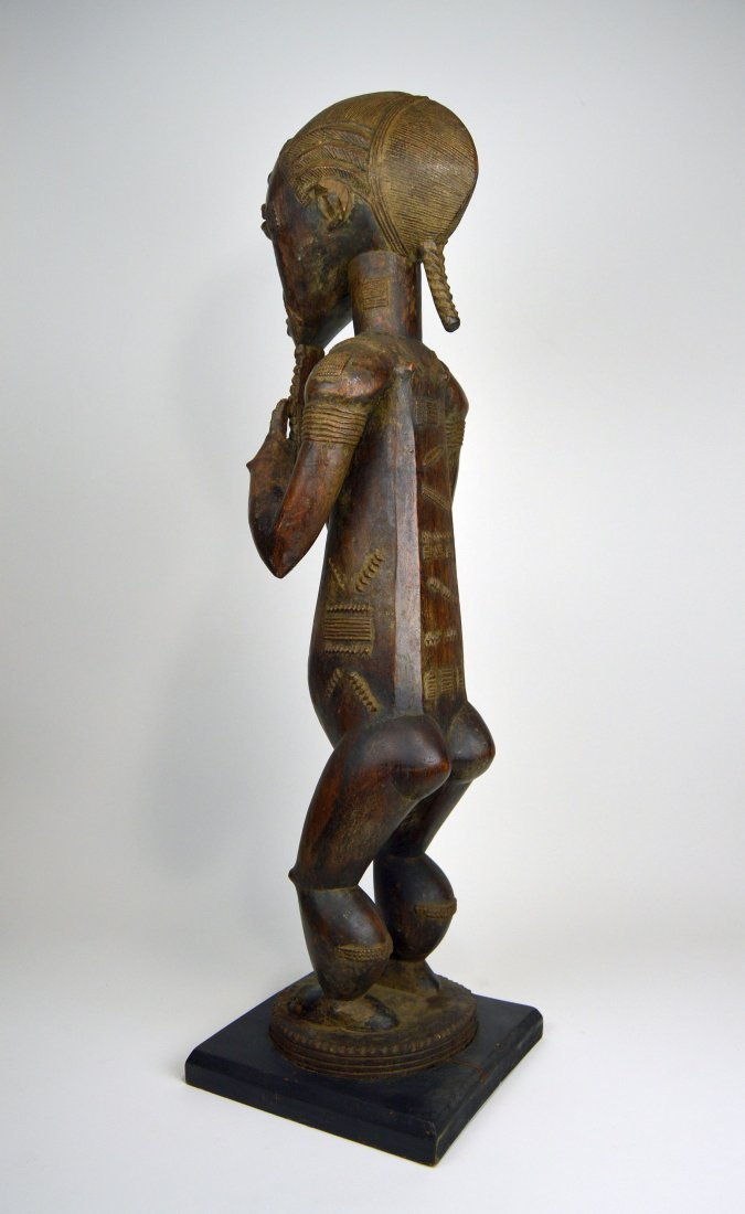 Large Baule Male sculpture, African Tribal Art - 5