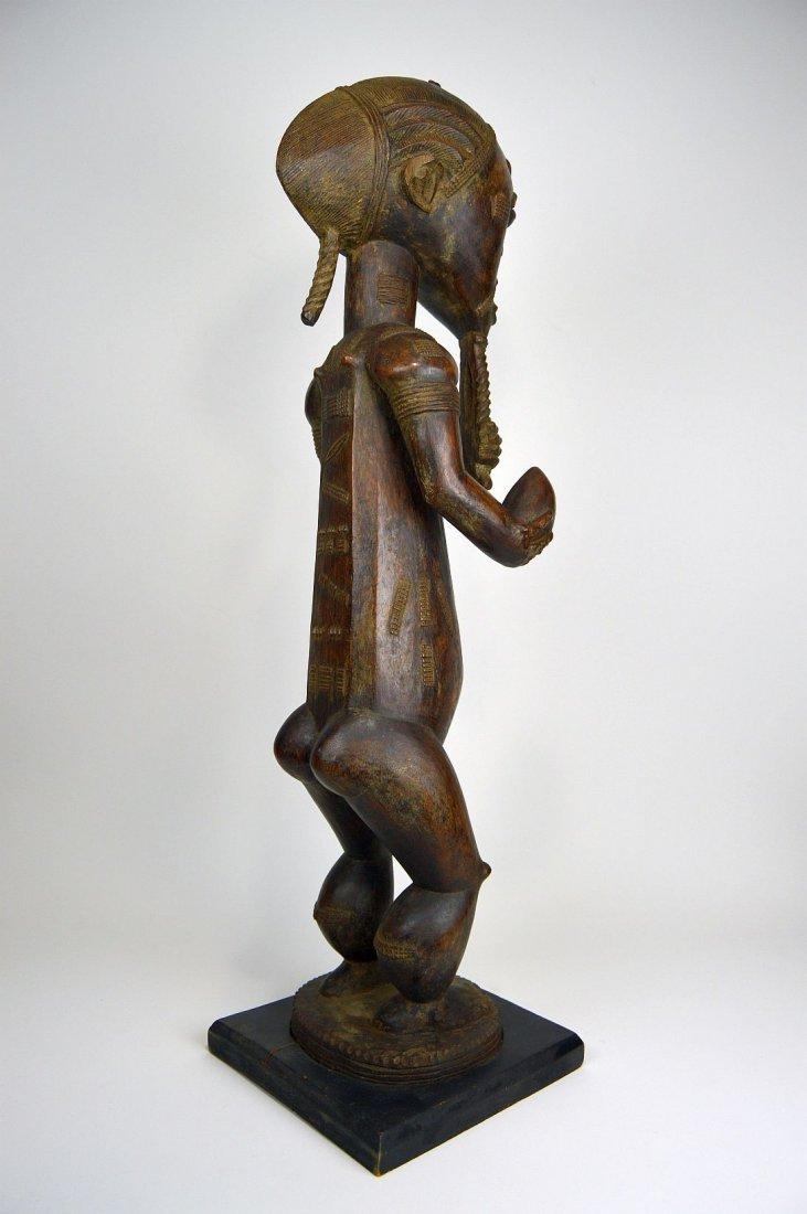 Large Baule Male sculpture, African Tribal Art - 6