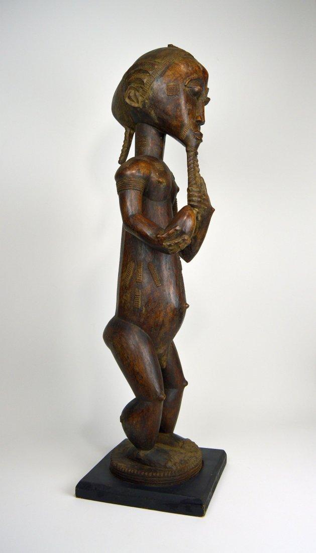 Large Baule Male sculpture, African Tribal Art - 7