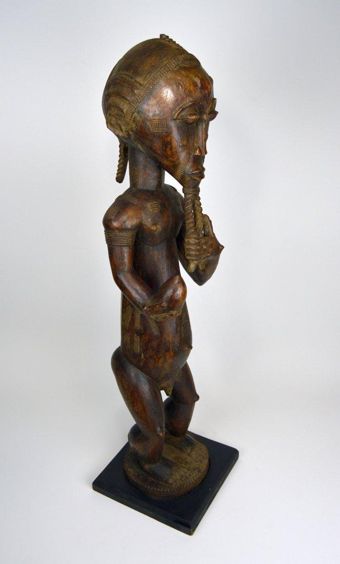 Large Baule Male sculpture, African Tribal Art - 8
