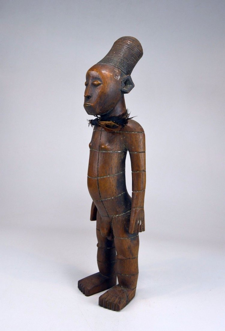 Handsome Mangbetu Male Sculpture, African Tribal Art