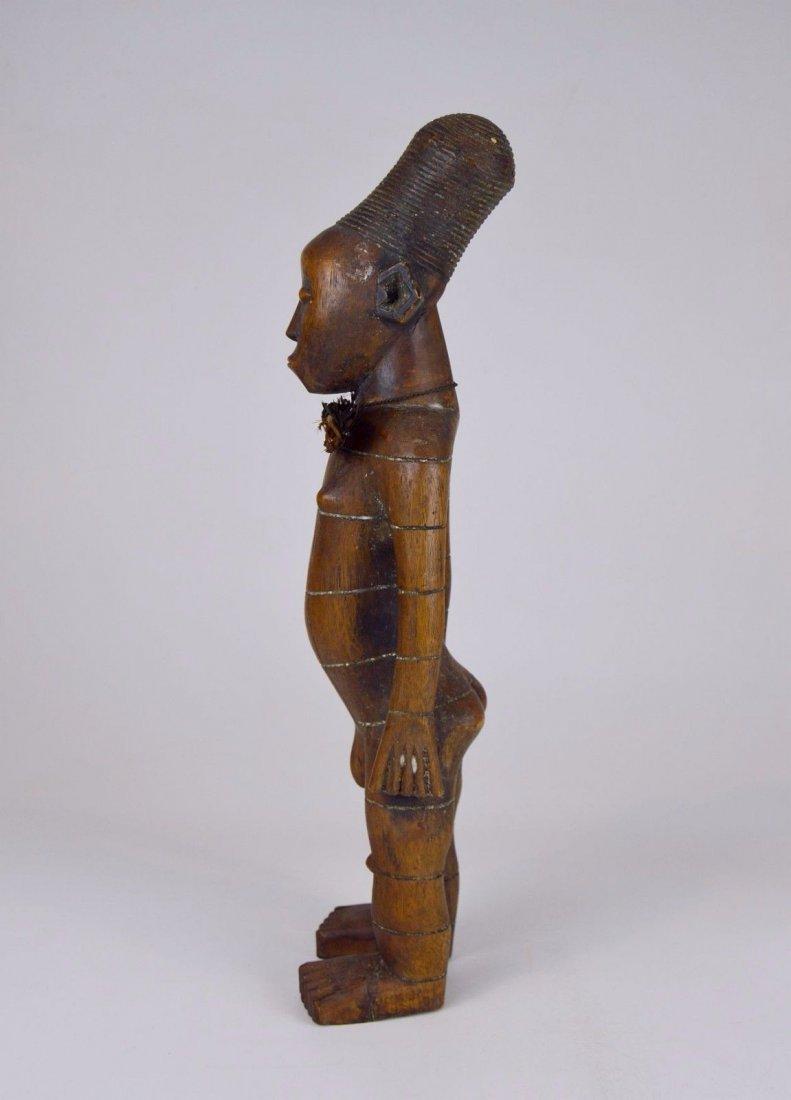 Handsome Mangbetu Male Sculpture, African Tribal Art - 2