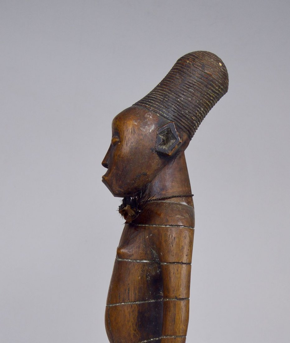 Handsome Mangbetu Male Sculpture, African Tribal Art - 3