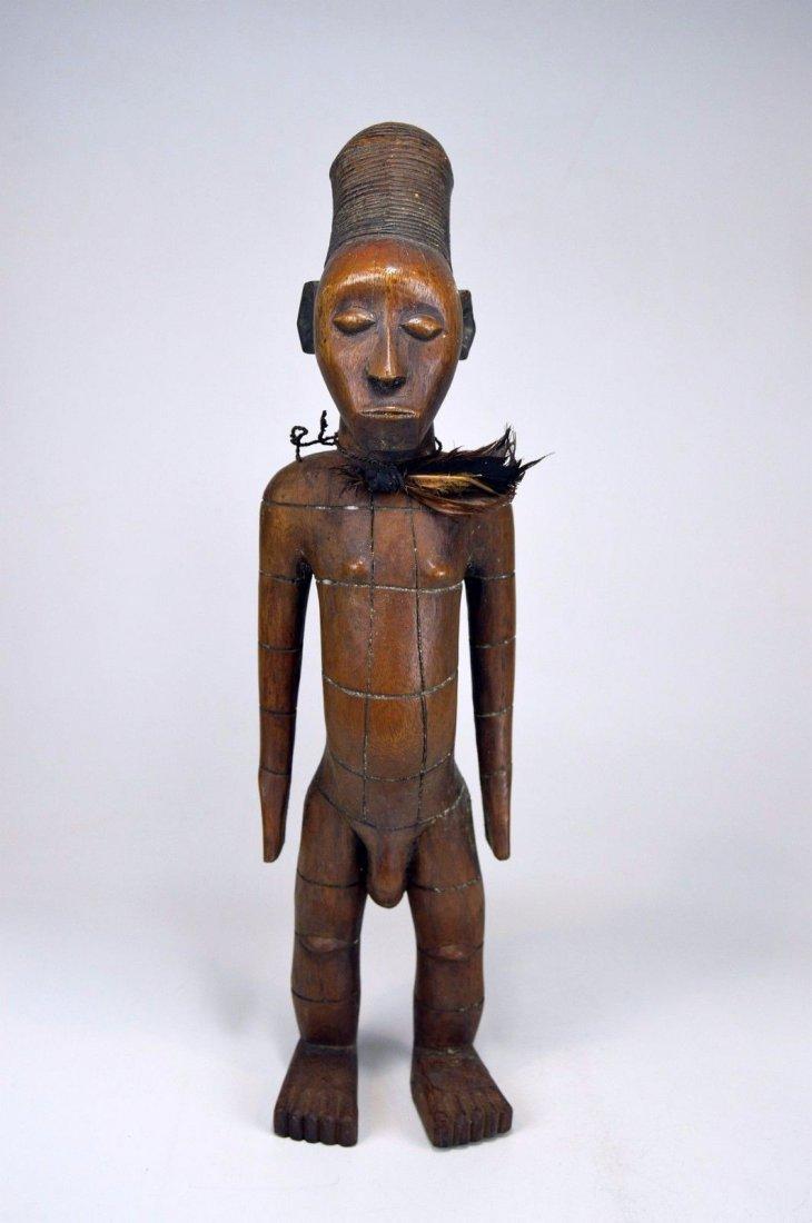 Handsome Mangbetu Male Sculpture, African Tribal Art - 4
