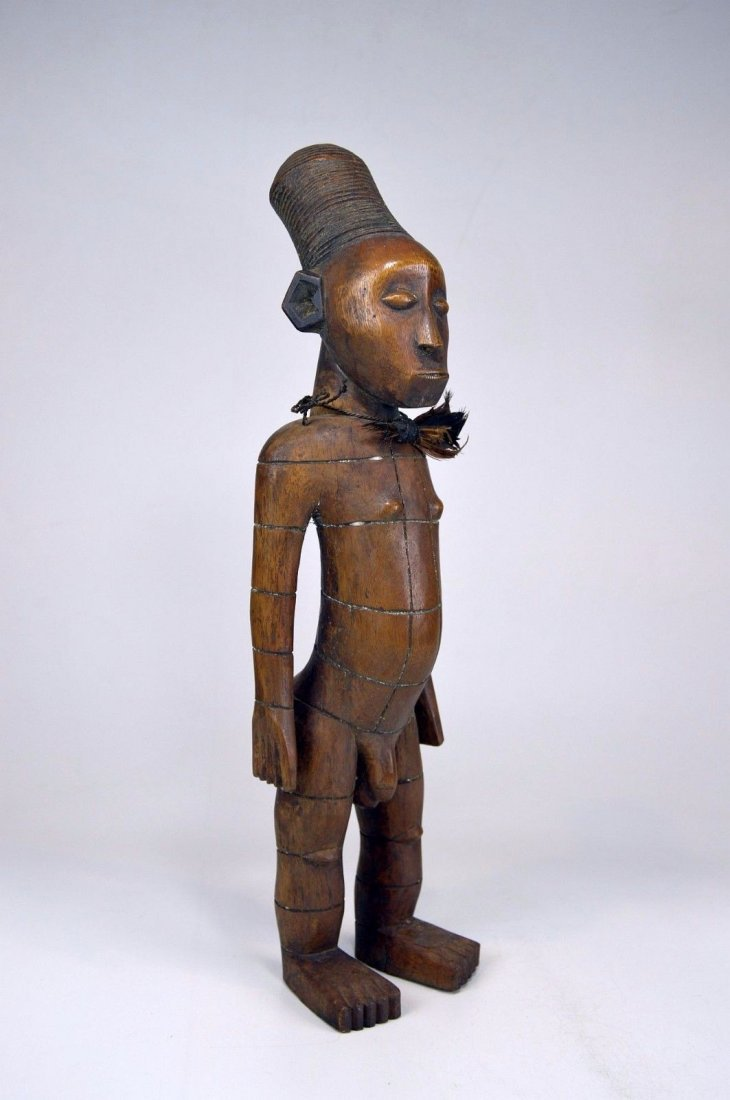 Handsome Mangbetu Male Sculpture, African Tribal Art - 5