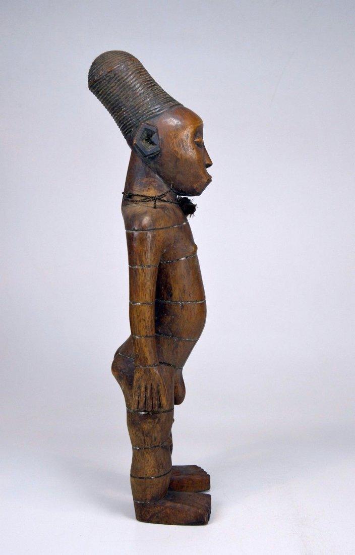 Handsome Mangbetu Male Sculpture, African Tribal Art - 6