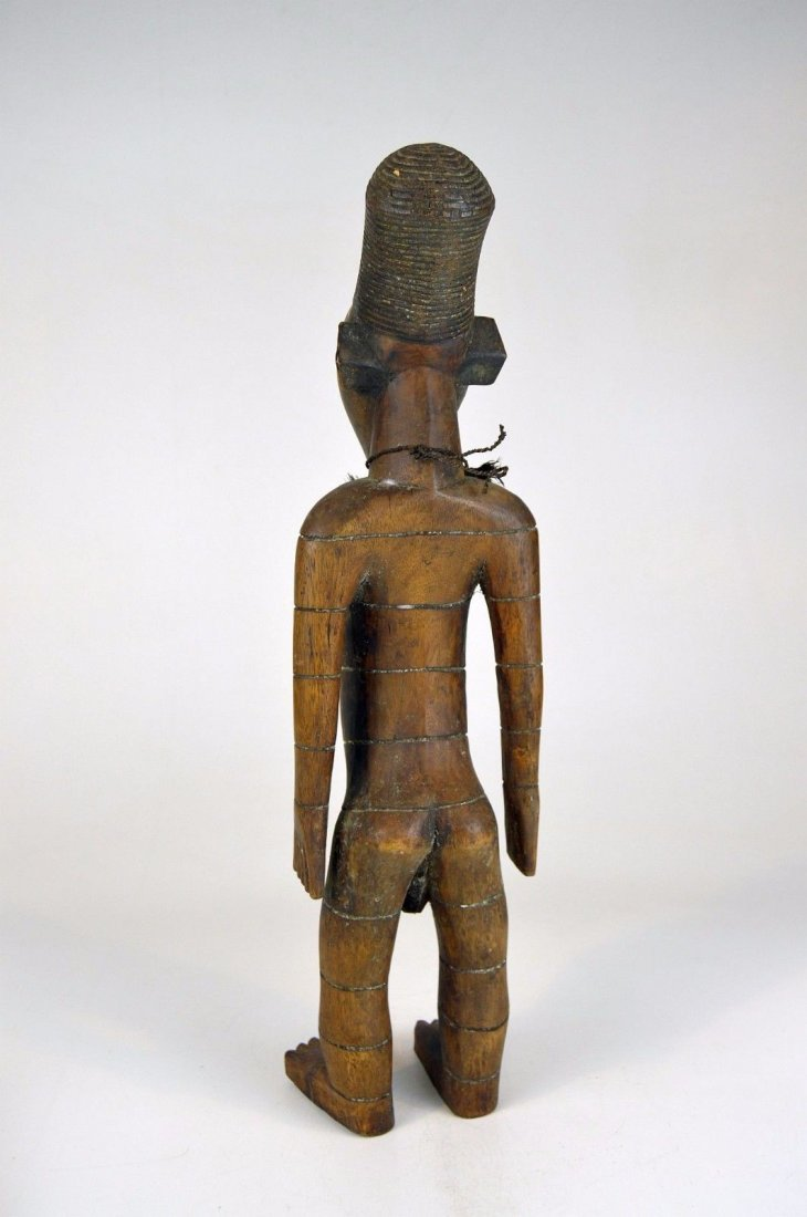 Handsome Mangbetu Male Sculpture, African Tribal Art - 7