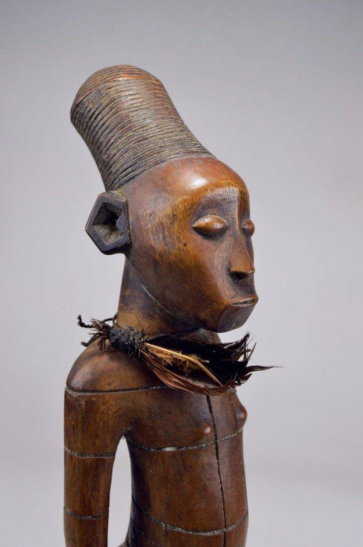 Handsome Mangbetu Male Sculpture, African Tribal Art - 8