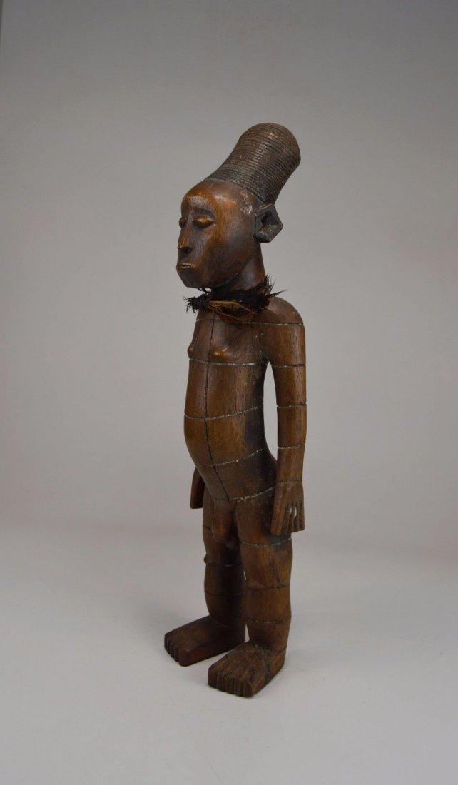 Handsome Mangbetu Male Sculpture, African Tribal Art - 9