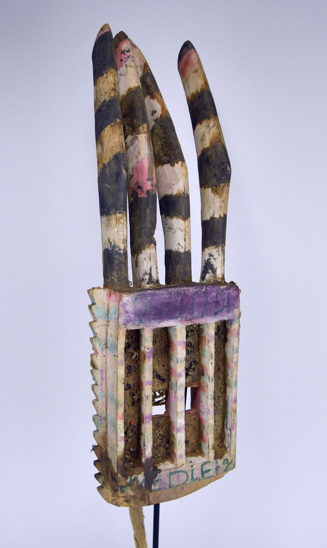 Wonderfully Abstract Field Used Dogon Walu African mask