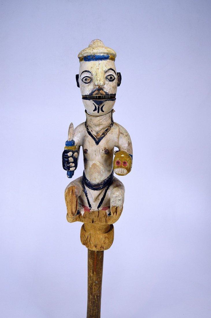 Ogoni Amanikpo Marionette holding a Skull, African Art - 4