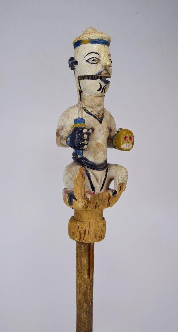 Ogoni Amanikpo Marionette holding a Skull, African Art - 5