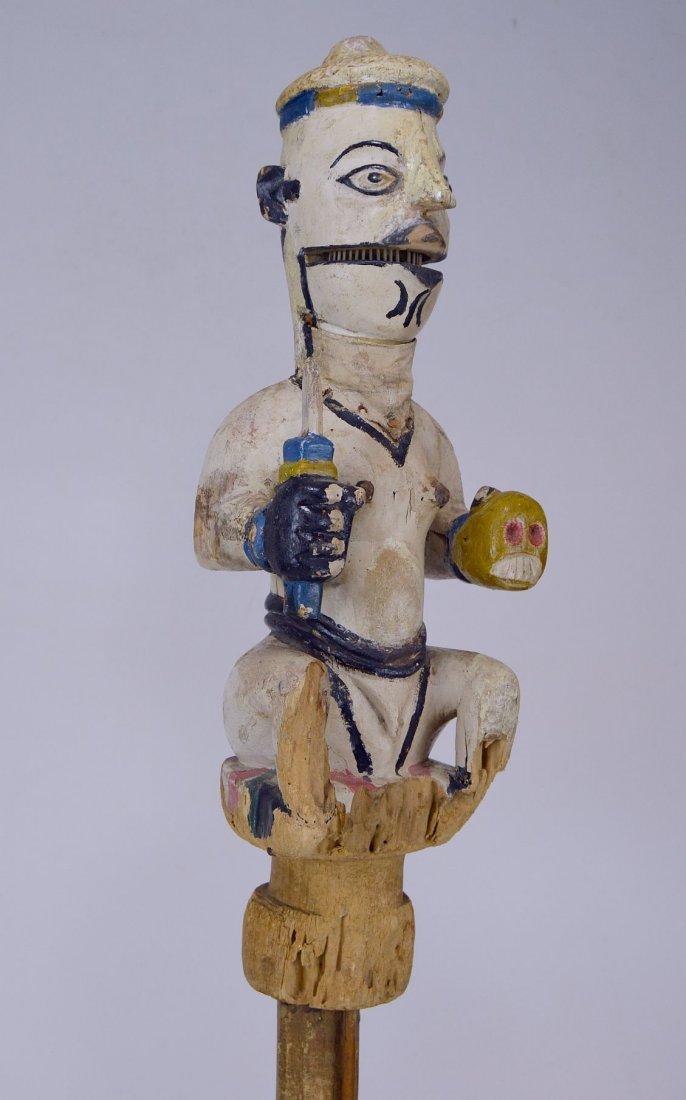 Ogoni Amanikpo Marionette holding a Skull, African Art - 6