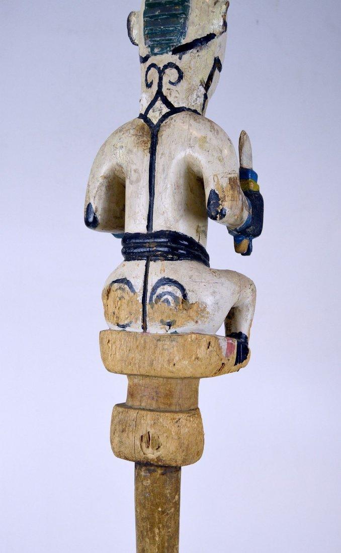 Ogoni Amanikpo Marionette holding a Skull, African Art - 7