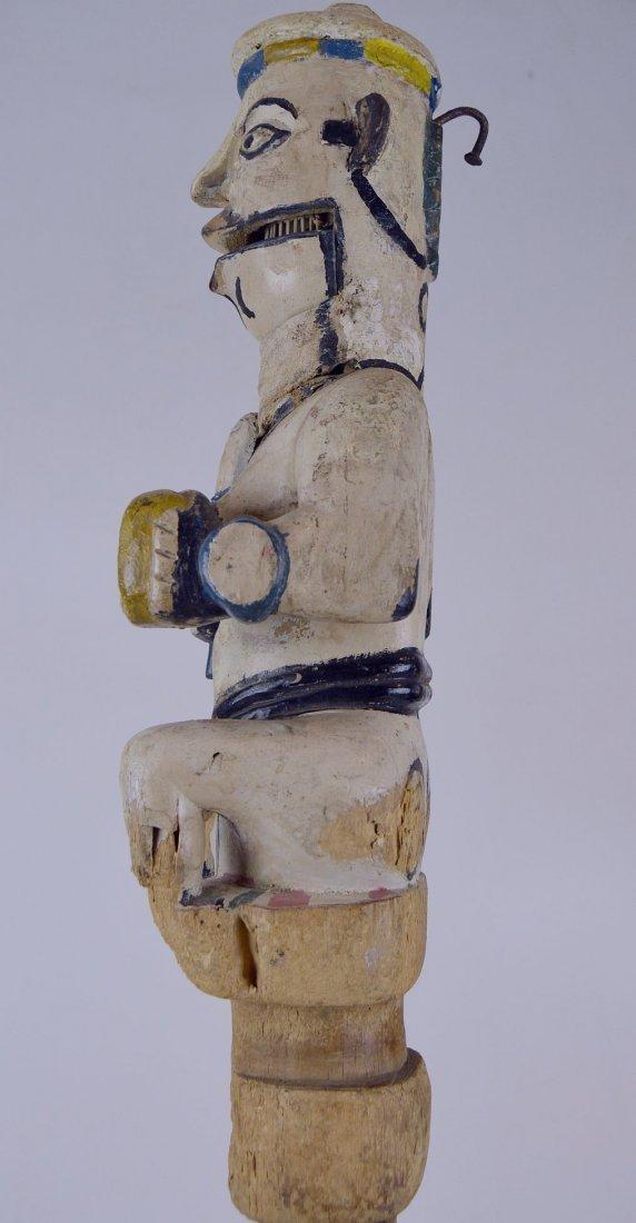 Ogoni Amanikpo Marionette holding a Skull, African Art - 8
