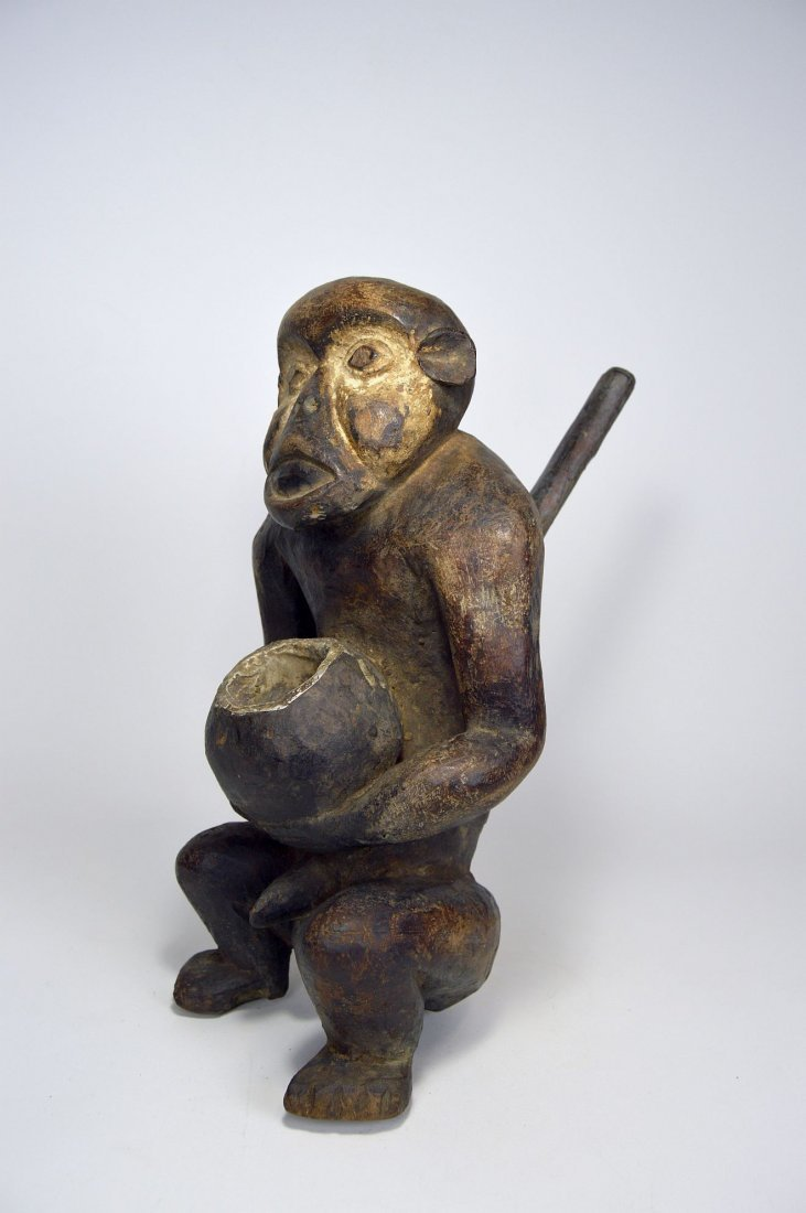 "Mbra Monkey \""fetish\"" sculpture, African Art"