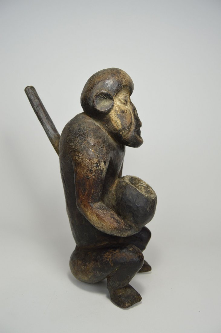 "Mbra Monkey \""fetish\"" sculpture, African Art - 4"
