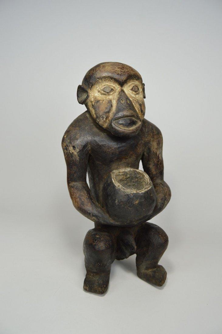 "Mbra Monkey \""fetish\"" sculpture, African Art - 5"