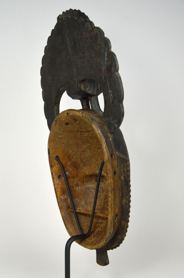 A Lovely Baule African mask with Avian finial - 5