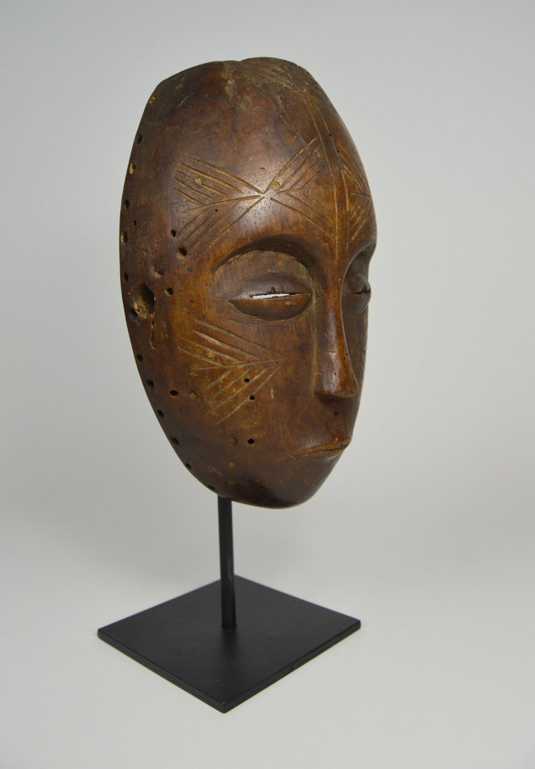 Serene Old Chokwe Mask, African Art