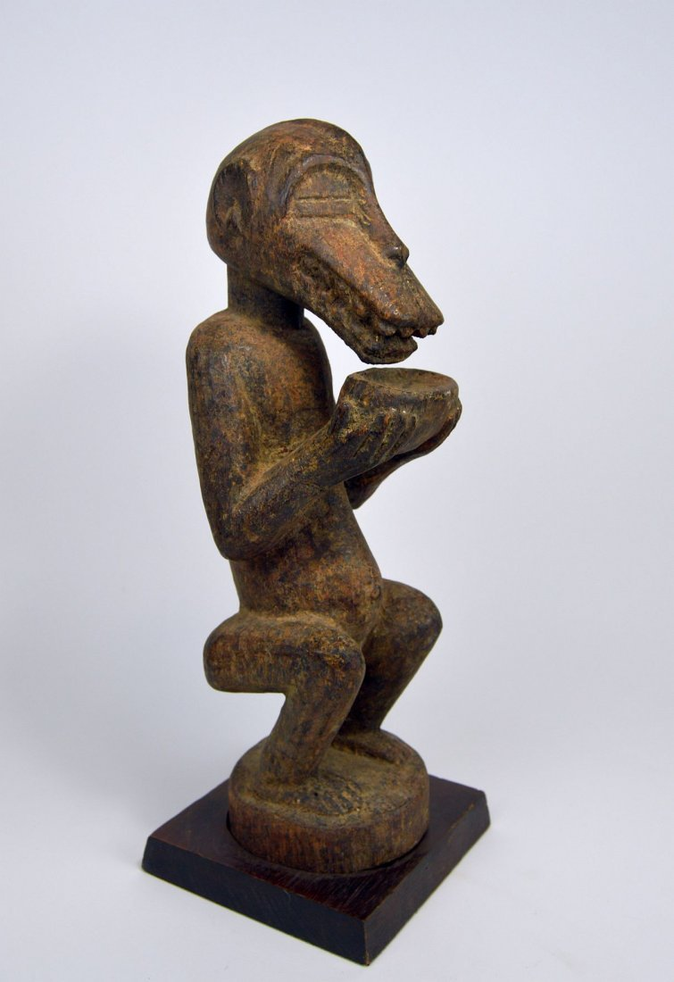 Baule Mbra Monkey fetish sculpture, African Art - 2