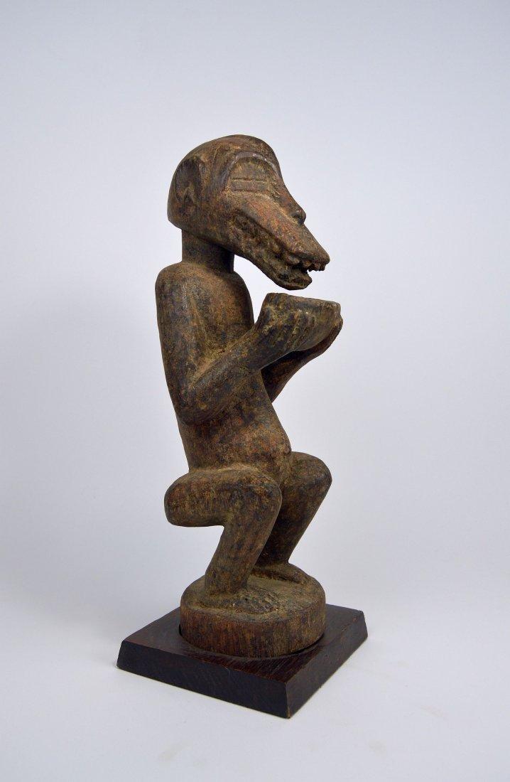 Baule Mbra Monkey fetish sculpture, African Art - 3