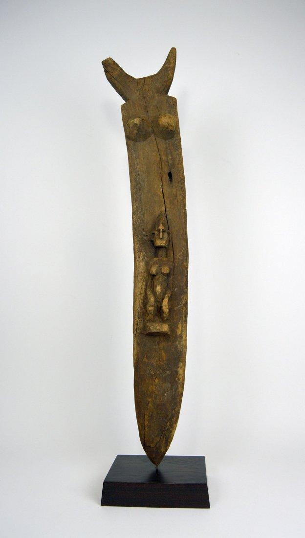 Dogon Toguna Post with Ancestor image, African Art - 2