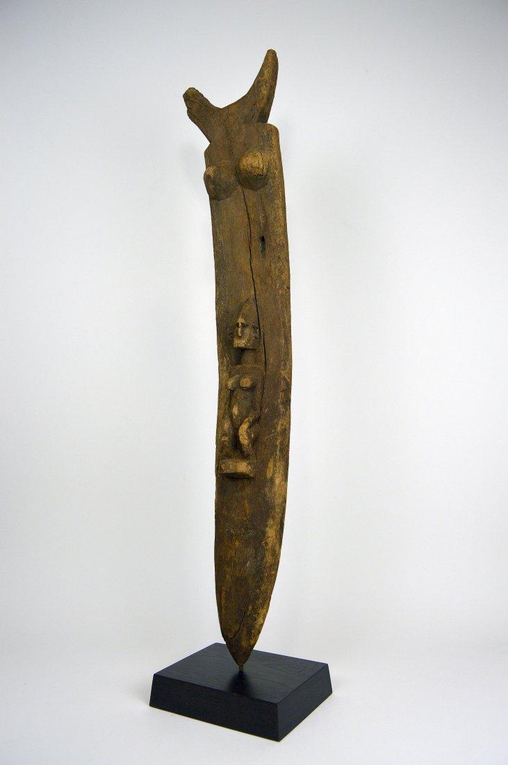 Dogon Toguna Post with Ancestor image, African Art - 4