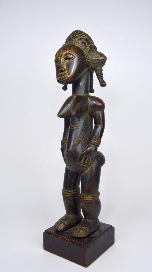 A Lovely Baule Female Sculpture, African Art - 2