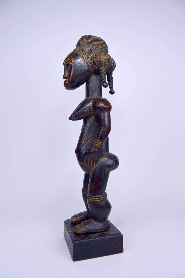 A Lovely Baule Female Sculpture, African Art - 3