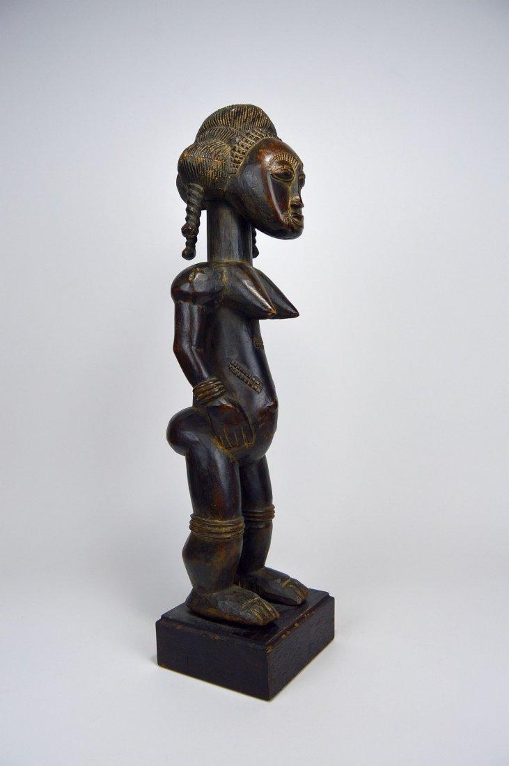A Lovely Baule Female Sculpture, African Art - 4