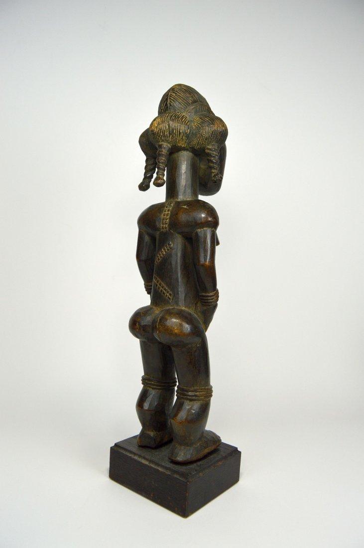 A Lovely Baule Female Sculpture, African Art - 5