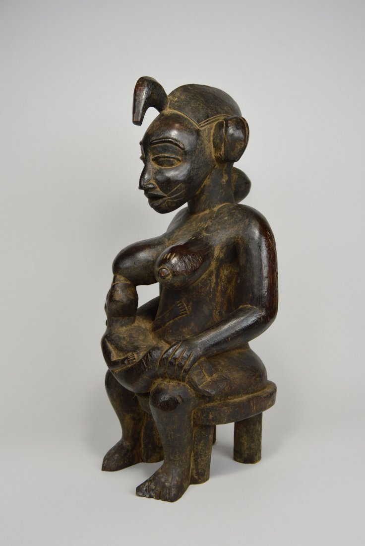 Senufo Mother & Child sculpture, African Art