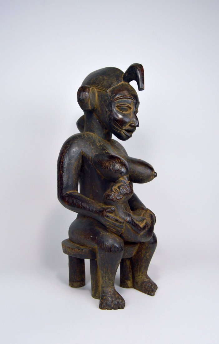 Senufo Mother & Child sculpture, African Art - 2