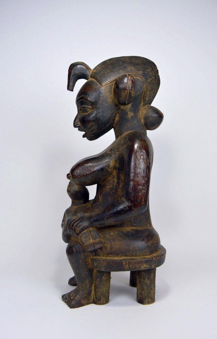 Senufo Mother & Child sculpture, African Art - 3
