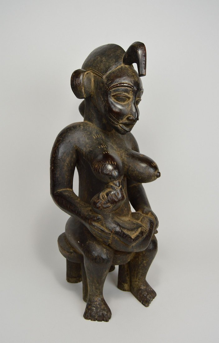 Senufo Mother & Child sculpture, African Art - 4