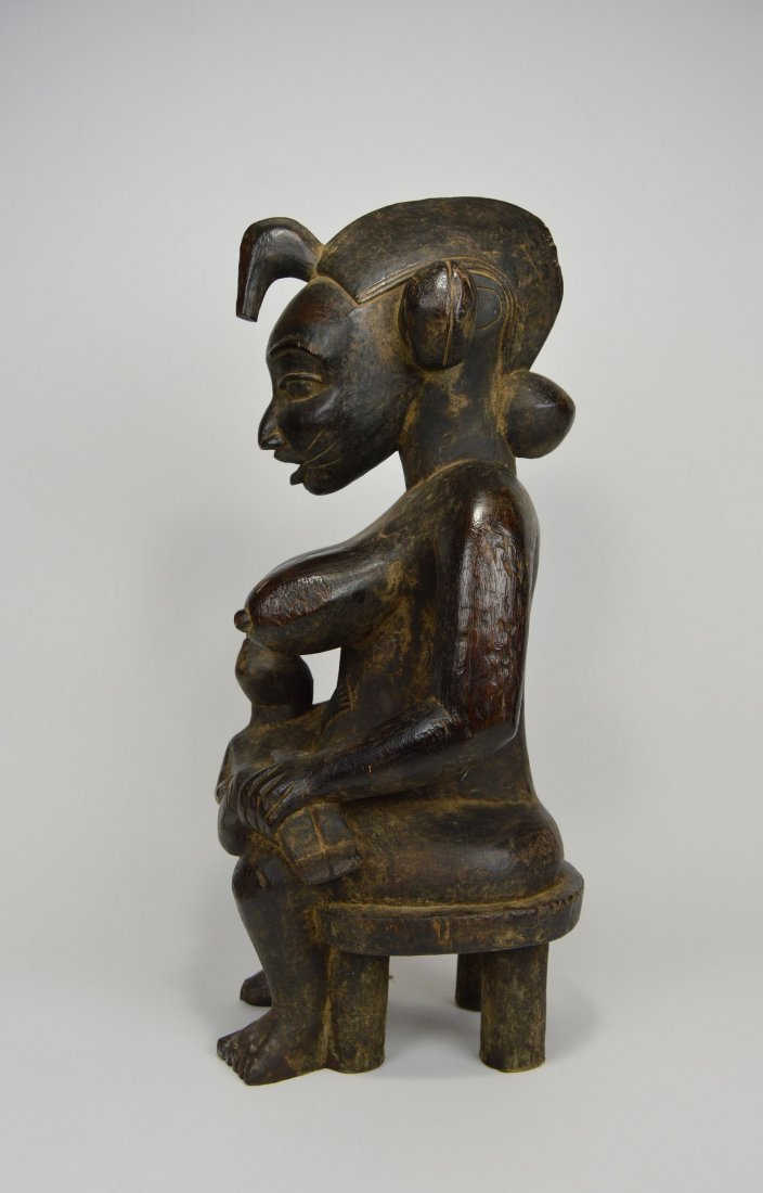 Senufo Mother & Child sculpture, African Art - 5