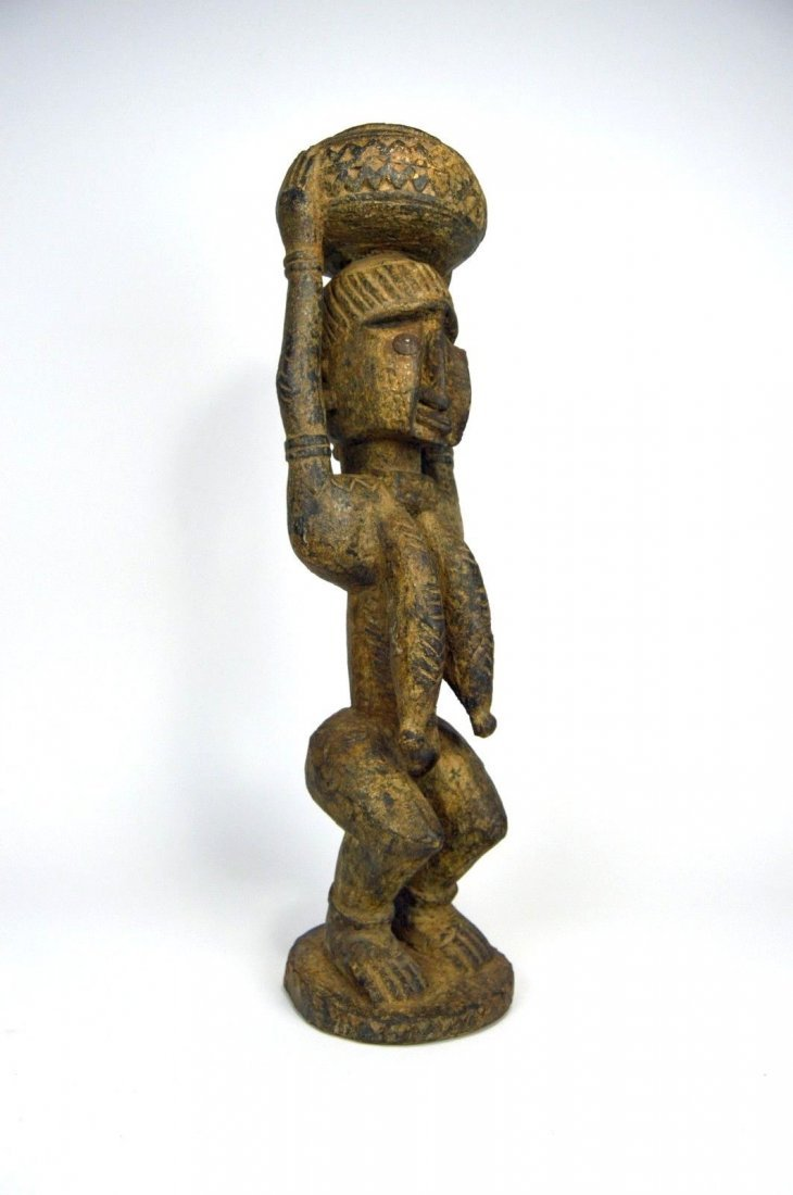 Dogon female carrying Burden , African Art - 3