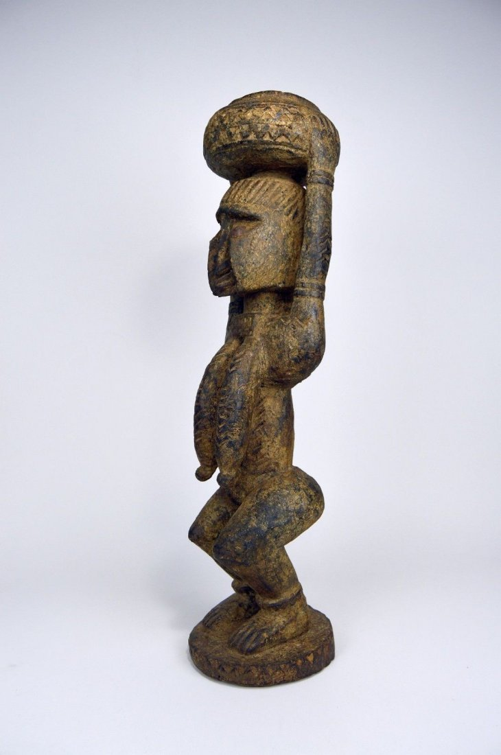 Dogon female carrying Burden , African Art - 4