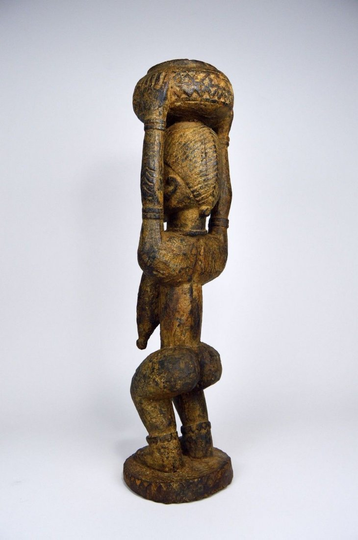 Dogon female carrying Burden , African Art - 5