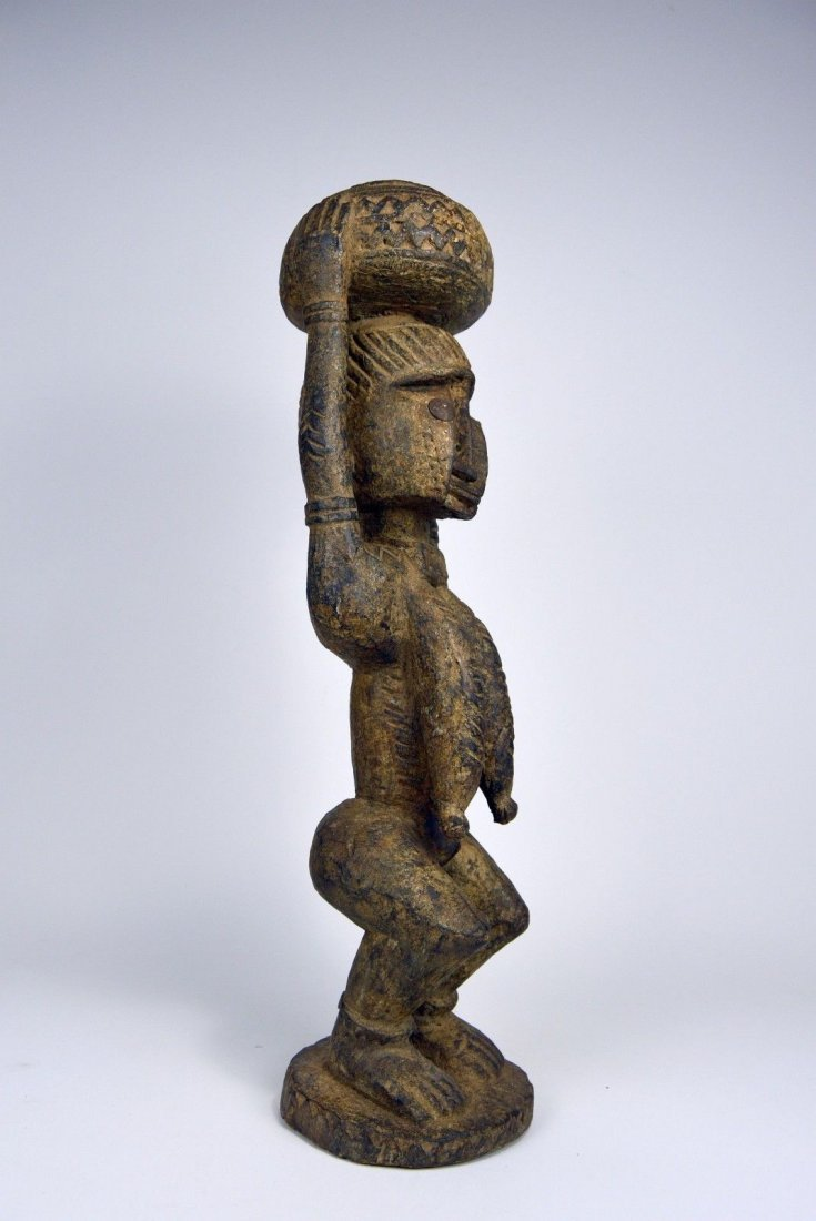 Dogon female carrying Burden , African Art - 6