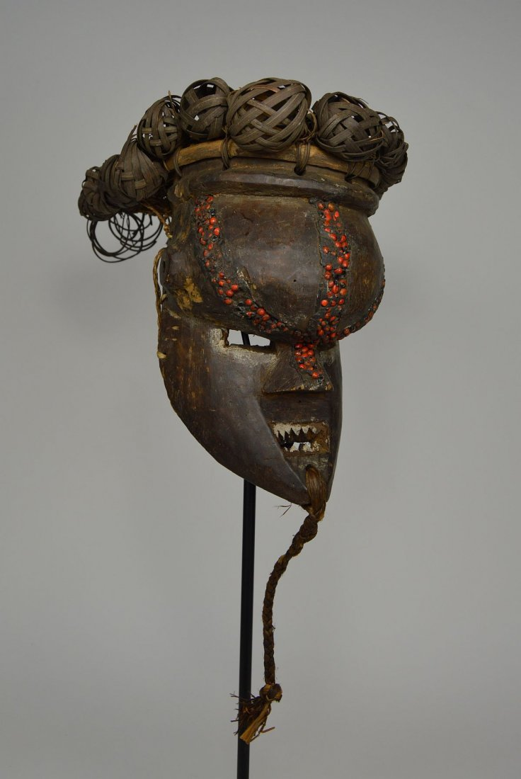 Salamapasu Initiation Mask with Headdress, African Art - 4