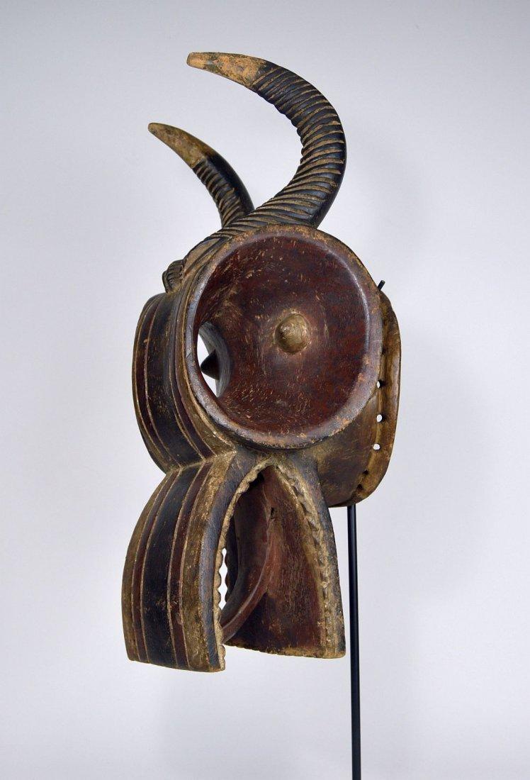 Baule Goli Glin Bush Cow African Helmet Mask
