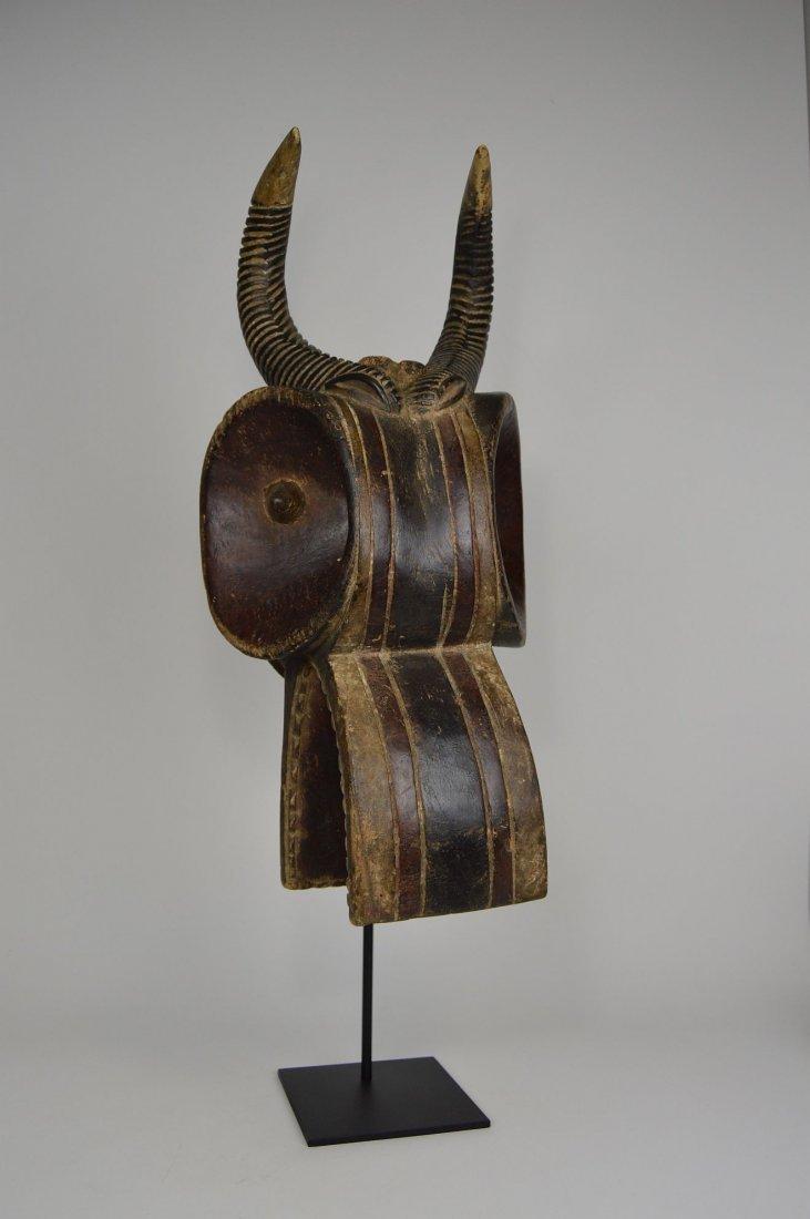 Baule Goli Glin Bush Cow African Helmet Mask - 4