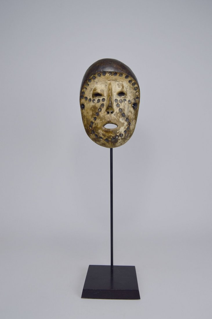 Lega Bwami Society African Mask with spotted designs