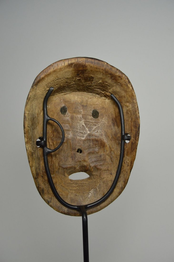 Lega Bwami Society African Mask with spotted designs - 5